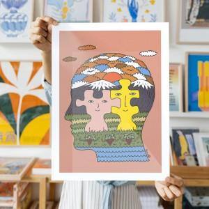Wall Art Bond by Fede Calandria - 30x40 cm