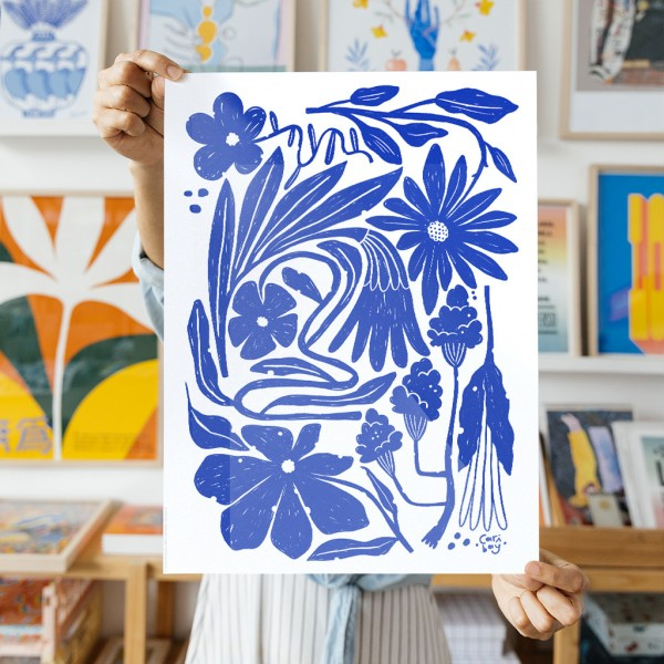Wall Art Organic Flora by Caribay - 30x40 cm