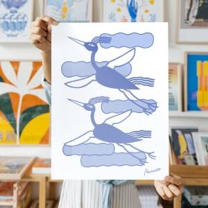 Wall Art Birds by Agustina Ramos - 30x40 cm