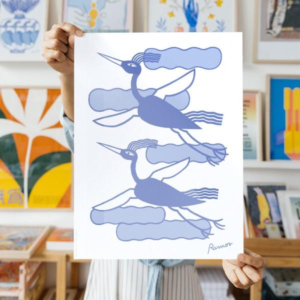 Lámina Pájaros x Agustina Ramos - 30x40 cm