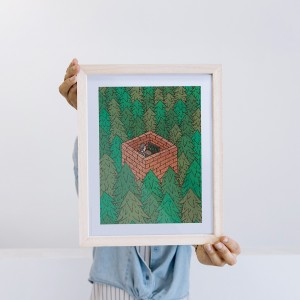 Wall Art Forest by Fede Calandria - 22x28 cm