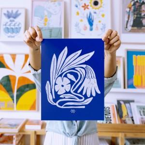 Lámina Flora mínima x Caribay -22x28 cm