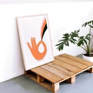 Framed Wall Art Om Disorder by Vik Arrieta - 50x70 cm