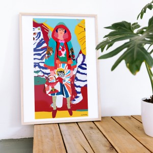Framed Wall Art Mizaki by Santiago Paredes - 50x70 cm