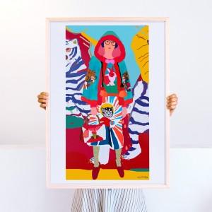 Cuadro Libres y Unidos  x Vik Arrieta -  50x70 cm