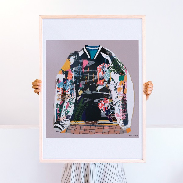 Framed Wall Art Bomber by Santiago Paredes - 50x70 cm