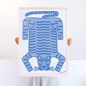 Cuadro Tigre  x Agustina Ramos -  50x70 cm