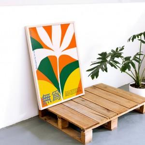 Framed Wall Art Wu Wei by Agustina Basile - 50x70 cm