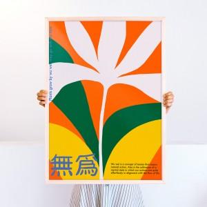 Lámina enmarcada Wu Wei x Agustina Basile - 50x70 cm