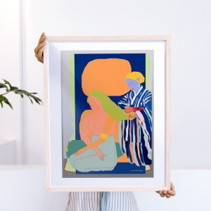Framed Wall Art Cacao by Santiago Paredes - 40x50 cm