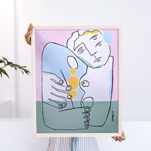 Framed Wall Art Hug by Larris - 40x50 cm