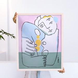 Cuadro Un Abrazo x Larris -  40x50 cm