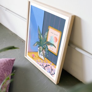 Cuadro Mi planta y Henri x FIDE-  40x50 cm