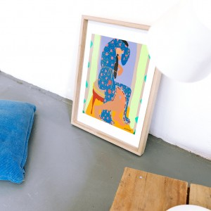 Framed Wall Art Pink Mamba by Santiago Paredes - 30x40 cm