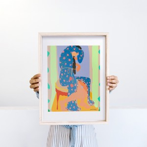 Lámina enmarcada Pink Mamba x Santiago Paredes - 30x40 cm