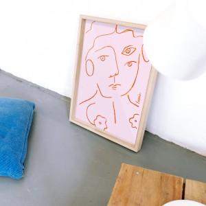 Cuadro Un retrato x Larris -  30x40 cm