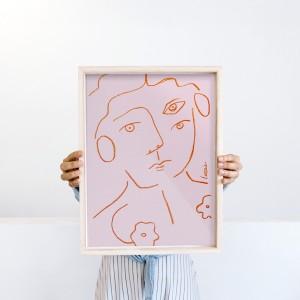 Lámina enmarcada Un retrato x Larris - 30x40 cm