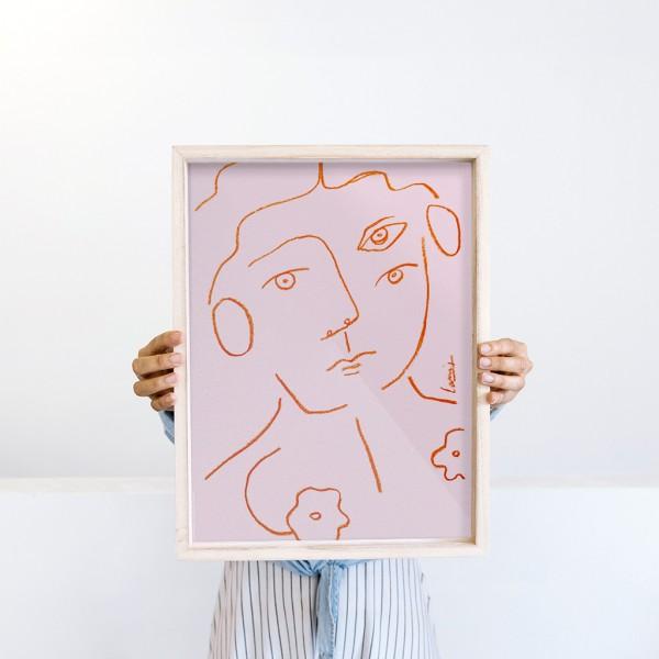 Lámina Enmarcada 30x40cm x Larris - Un retrato