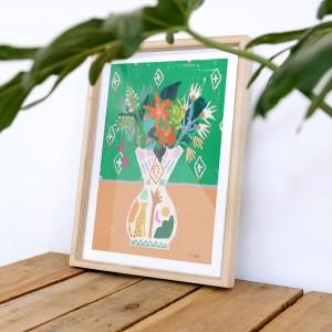 Cuadro Floral hand x Lucilismo -  30x40 cm