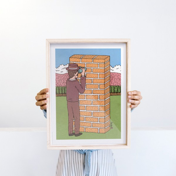 Framed Wall Art Report by Fede Calandria - 30x40 cm