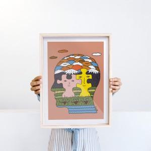 Framed Wall Art Bond by Fede Calandria - 30x40 cm
