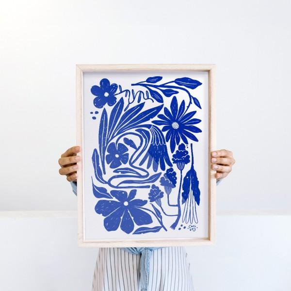 Framed Wall Art Organic Flora by Caribay - 30x40 cm