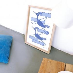 Lámina enmarcada Pájaros x Agustina Ramos - 30x40 cm
