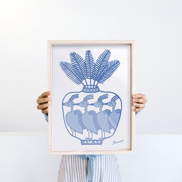 Framed Wall Art Flagon by Agustina Ramos - 30x40 cm