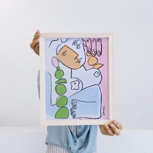 Cuadro Jarrón x Agus Ramos-  30x40 cm