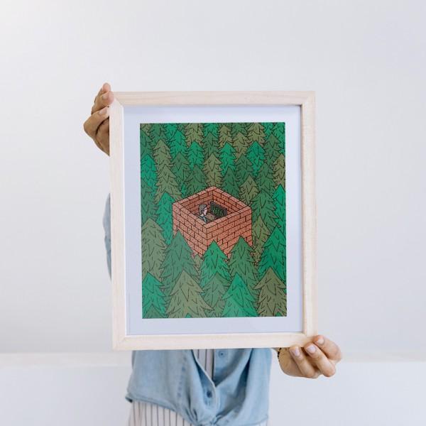 Lámina OM Universo 50x70  x Vik Arrieta