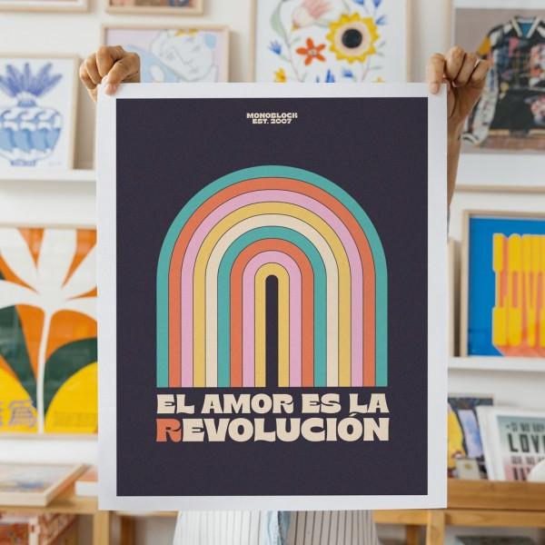 Wall Art El amor es la Revolución - 40x50 cm