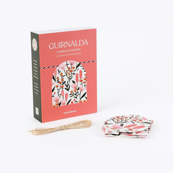 Guirnalda 9 piezas Josefina Schargo Flores Silvestres