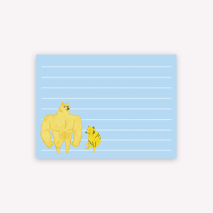 Sticky Notes Big dog, Small dog by Brenda Ruseller 10x7.4cm