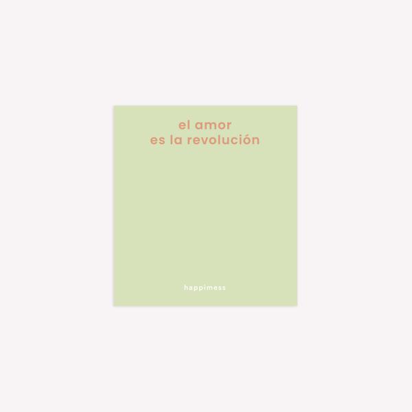 Happimess El amor es la Revolución Sticky Notes