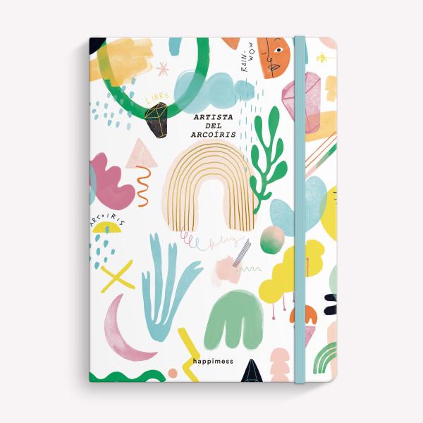 Cuaderno Cosido A5 Liso Happimess Artista del Arcoíris