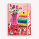 Stitched Notebook A5 Ruled María Luque Flowers and Books