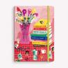 Cuaderno Cosido A5 Rayado Club de Lectura Flores y Libros