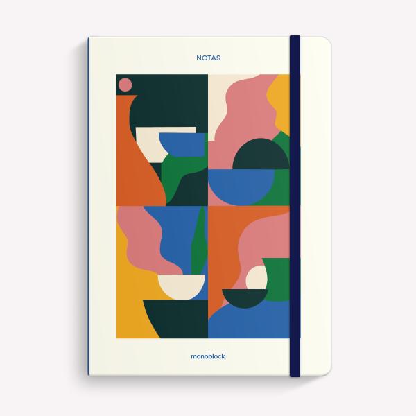 Cuaderno Cosido A5 Punteado Abstracciones