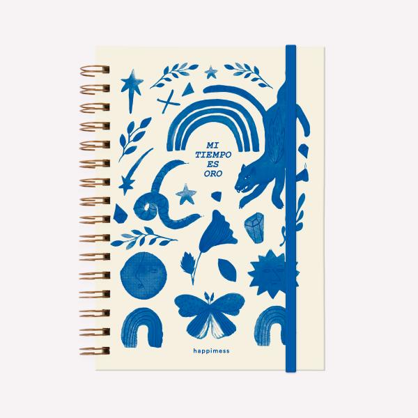 Cuaderno Anillado A5 Happimess Mi Tiempo es Oro 2021 Rayado