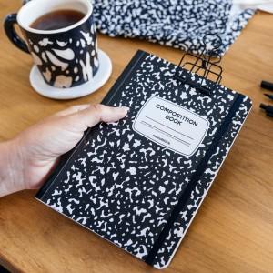 Cuaderno Cosido A5 Punteado Monoblock Compost Negro