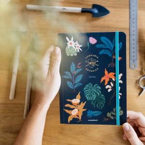 Cuaderno Cosido A5 Punteado Botánica Noche