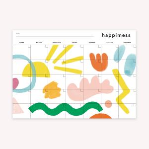 Planner Mensual 35x25 cm Happimess Artista del arcoiris