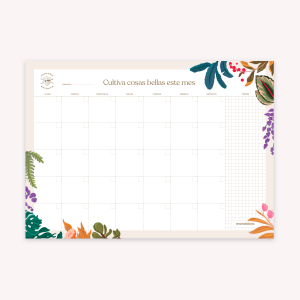 Monthly Planner 35x25 cm Botánica Día