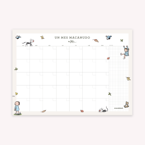 Monthly Planner 35x25 cm Macanudo Enriqueta and Fellini
