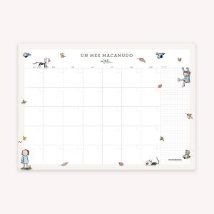 Planner Mensual Botánica Día 35x25 cm
