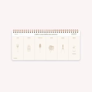 Planificador Semanal Anillado - De Viaje Wanderlust 28x12 cm
