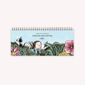 Ringed Weekly Planner - Happimess Honrá tu poder 28x12 cm