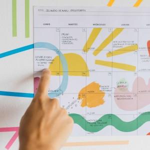 Planificador Mensual  Artista del arcoiris 35x25 cm