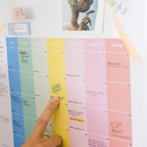 Planner Mensual Colorblock 35x25 cm