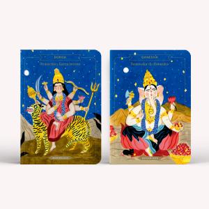 Libretas x2 Bruja Moderna Durga-  Ganesha